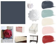collecting lovely: Inspiration Board: Hague Blue. I like this color scheme for my bedroom instead
