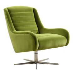 This Vanhoose Swivel Green Velvet Armchair Chair Is Retro Designed And Made To A High Standard, Sold At Wayfair But Cheaper At Smithers of Stamford Stores Call Us 01780 435060 We Ship Free To Scotland And London Everyday Furniture Care, Retro Furniture, Furniture Design, Velvet Furniture, Green Velvet Armchair, Green Velvet Fabric, Retro Armchair, Swivel Armchair, Colored Dining Chairs