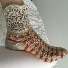 Wool socks with lace up, wool socks, knitting, hourglass heel, pattern knit . Wool Socks, Knitting Socks, Patterned Socks, Boot Cuffs, Mittens, Needlework, Knit Crochet, Knitting Patterns, Slippers