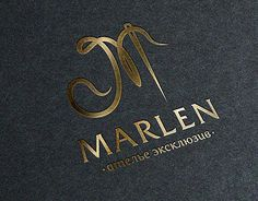 """project was designed a logo for the sewing studio """"Marlen"""". Atelier """"Marlen"""" sews clothes to order, as well as various articles in leather. Sewing Room Design, Sewing Art, Sewing Studio, Sewing Class, Clothes To Order, Logo Design Inspiration, Design Ideas, Clothing Logo, Studio Logo"""