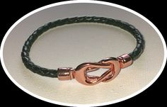 Pandora-style leather and rose-gold infinity charm bracelets by BohoBoutiquex on Etsy