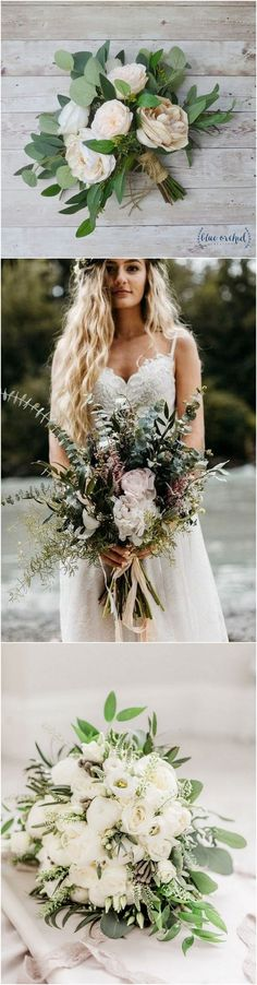 Neutral wedding colors inspired wedding bouquets #weddingflowers #neutralcolors #weddingcolors #weddingbouquets