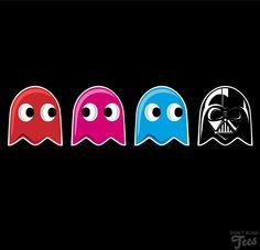 Im a true Star Wars Fanatic! Pac-Man / Star Wars Mash Up Pac Man, Theme Star Wars, Star Wars Day, Idee Baby Shower, Darth Vader, Star War 3, Death Star, The Force Is Strong, Star Wars Humor