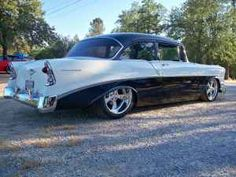 Clean '56 Chevy  Someday I hope to get mine painted and rechrome the chrome. Cha Ching!!