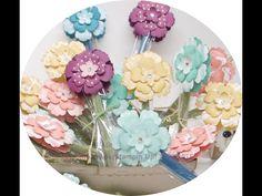 Blumengrüße mit Stanzen von Stampin Up - YouTube