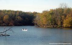 Canoeists at the Skokie Lagoons, Wilmette, Illinois.