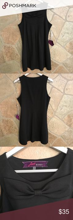 "NWT Jack BB Dakota Sleeveless Bow mini dress. Sz M NWT Jack by BB Dakota black mini dress. Super cute with large bow across the bust. Had pockets!!!   Approx measurements - laying flat:   Armpit to armpit -   18"" Length from top of shoulder down -   31"" Jack by BB Dakota Dresses Mini"