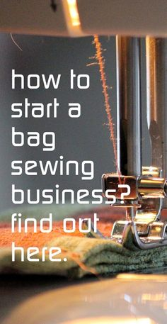 bag sewing business | mom business | work at home mom