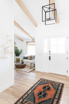 light wood beams and