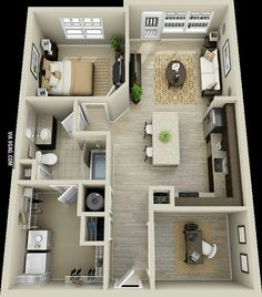 Cute little home for two