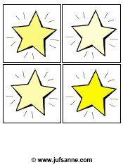 sterren van licht naar donker