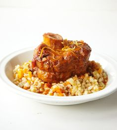 Just wanted to share this delicious recipe from Lidia Bastianich with you - Buon Gusto! Veal Ossobuco with Barley Risotto