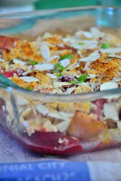 Strawberry Apple Crumble {Gluten-Free, Vegan, Dairy-Free, Sugar-Free}