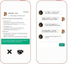 Download nspHIRE, basically a Tinder app for jobs! Swipe right and get matched up to your dream job!