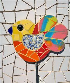 Tutor pájaro mosaico