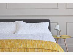 MINA WHITES Cotton White pin-tucked double duvet cover - HabitatUK
