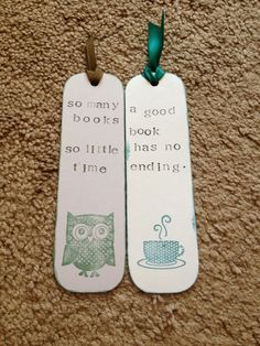 Love the modern and stamped look! - book ? with personalised bookmarks