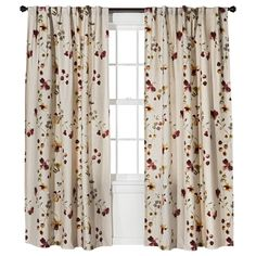 Threshold� Watercolor Floral Curtain Panel