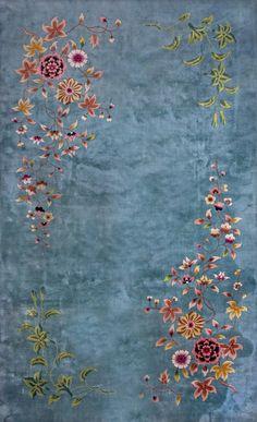 "#196 Chinese Art Deco carpet    9'0"" x 14'8""    circa 1930"