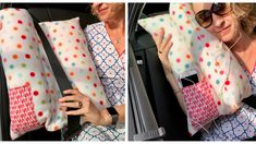 In eight steps to a homemade car pillow. Karin Moslener shows you how . In eight steps to a homemade car pillow. Karin Moslener shows you how to do it. Sewing Projects For Kids, Knitting Projects, Sewing Clothes, Diy Clothes, Diy Couture, Knitted Headband, Diy Pillows, Learn To Sew, Sewing Patterns Free