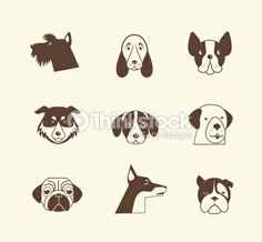 Vector Art : Pets vector icons - cats and dogs elements