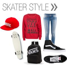 """Skater Style"" on Polyvore. I love this style!"