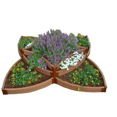 Frame It All Two Inch Series 8 Ft X 165 In Versailles Sunburst Classic Sienna Composite Raised Garden Bed Kit