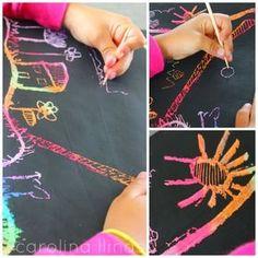 Dibujos mágicos: Técnica de esgrafiado para niños. | #Artividades