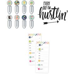 Simple Stories Faith & Carpe Diem Clips, Tracker Bookmark and Planner... ($8.99) ❤ liked on Polyvore featuring home, home decor, office accessories, personalized planner and personalized bookmarks