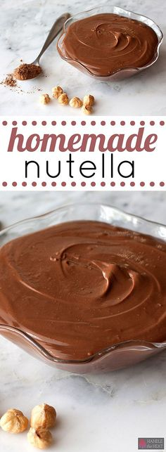 How to Make AMAZING Homemade Nutella right in your own kitchen!