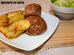 Biftekia la cuptor - Bucataria cu noroc Noroc, Potatoes, Vegetables, Potato, Vegetable Recipes, Veggies