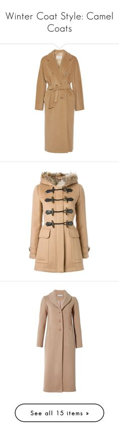 """Winter Coat Style: Camel Coats"" by polyvore-editorial ❤ liked on Polyvore featuring CamelCoats, outerwear, coats, jackets, coats & jackets, jassen, wool coat, woolen coat, cashmere blend coat and maxmara"