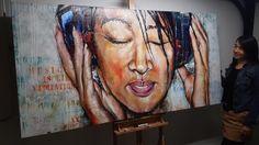 Schilderij Portret Priscilla Wan door Patrick van Haren
