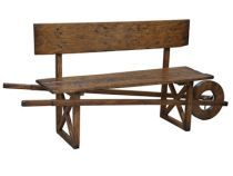 wheel barrow bench | Sarreid Living Room Wheel Barrow Bench 25960 - Walter E. Smithe - 11 ...
