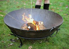 Buy Large Indian brazier bowl: Delivery by Waitrose Garden in association with Crocus Cooking Steak On Grill, Cooking Bowl, Sous Vide Cooking, Fire Cooking, Cooking Bacon, How To Cook Steak, Cooking Fish, Healthy Cooking, Fire Pit Bowl