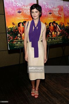 Actress Audrey Tautou attends the 'Mood Indigo' New York premiere at Tribeca Grand Hotel on July 16, 2014 in New York City.