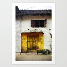 Fort Cochin Door, Fort Cochin, Kerala, India Art Print by Strongsoutherly - $16.00