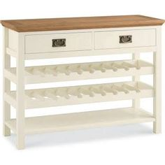 wine rack sideboard white and oak - Google Search