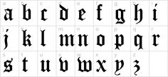 Old English Five Font lowercase preview