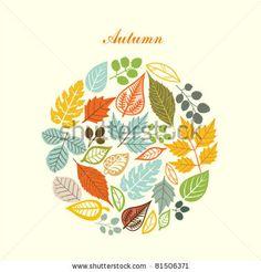 stock vector : autumn leaf background