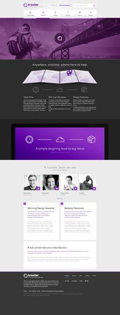 Free PSD Webdesign - Travler   #it #web #design #layout #userinterface #website #webdesign <<< repinned by www.BlickeDeeler.de Follow us on www.facebook.com/BlickeDeeler