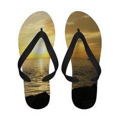 Yellow Sky Flip Flops