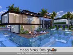 The Sims Resource: Mesa Black Design by Autaki • Sims 4 Downloads