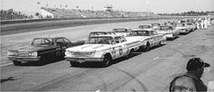 Vintage Nascar race Look at those cars