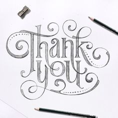 calligraphy quotes thank you - handlettering Inspiration Thank You Font, Thank You Typography, Hand Lettering Quotes, Creative Lettering, Lettering Styles, Typography Letters, Lettering Design, Thank You Cards, Calligraphy Cards