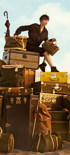 We hope you're planning to travel in style on your final Summer getaways! http://luxurygaragesale.com/collections/designer-louis-vuitton/products/brown-monogram-canvas-sturdy-structured-alzer-80-travel-suitcase