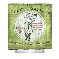 Choose your favorite golf shower curtains from thousands of available designs. All golf shower curtains ship within 48 hours and include a money-back guarantee. Golf Green, Golf Theme, Vintage Golf, Fine Art America, Curtains, Shower, Rain Shower Heads, Blinds, Showers