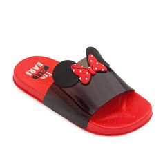 Minnie Mouse Slides for Kids - Red Toddler Nike Shoes, Kid Shoes, Baby Shoes, Cute Disney Outfits, Baby Girl Closet, Kids Slide, Disney Toms, Gucci Kids, Best Friend Jewelry