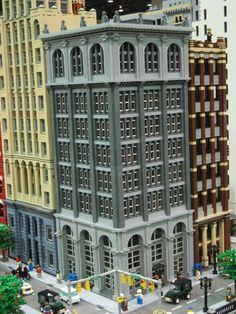 lego city.....so cool! We don't have any buildings (or pieces) tall enough (or that match) to build this.....maybe a couple modulars but those are like $150 and up........I've been spending too much time with Quin lol!