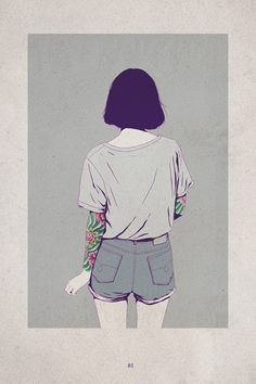 girls by Adams Carvalho http://www.booooooom.com/2013/08/30/illustrator-adams-carvalho/#more-49562
